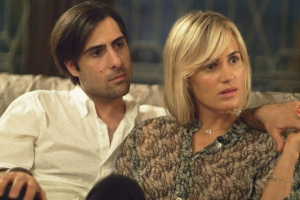 THE OVERNIGHT - 2015 FILM STILL - Pictured: Jason Schwartzman and Judith GodrËche - Photo Credit: The Orchard
